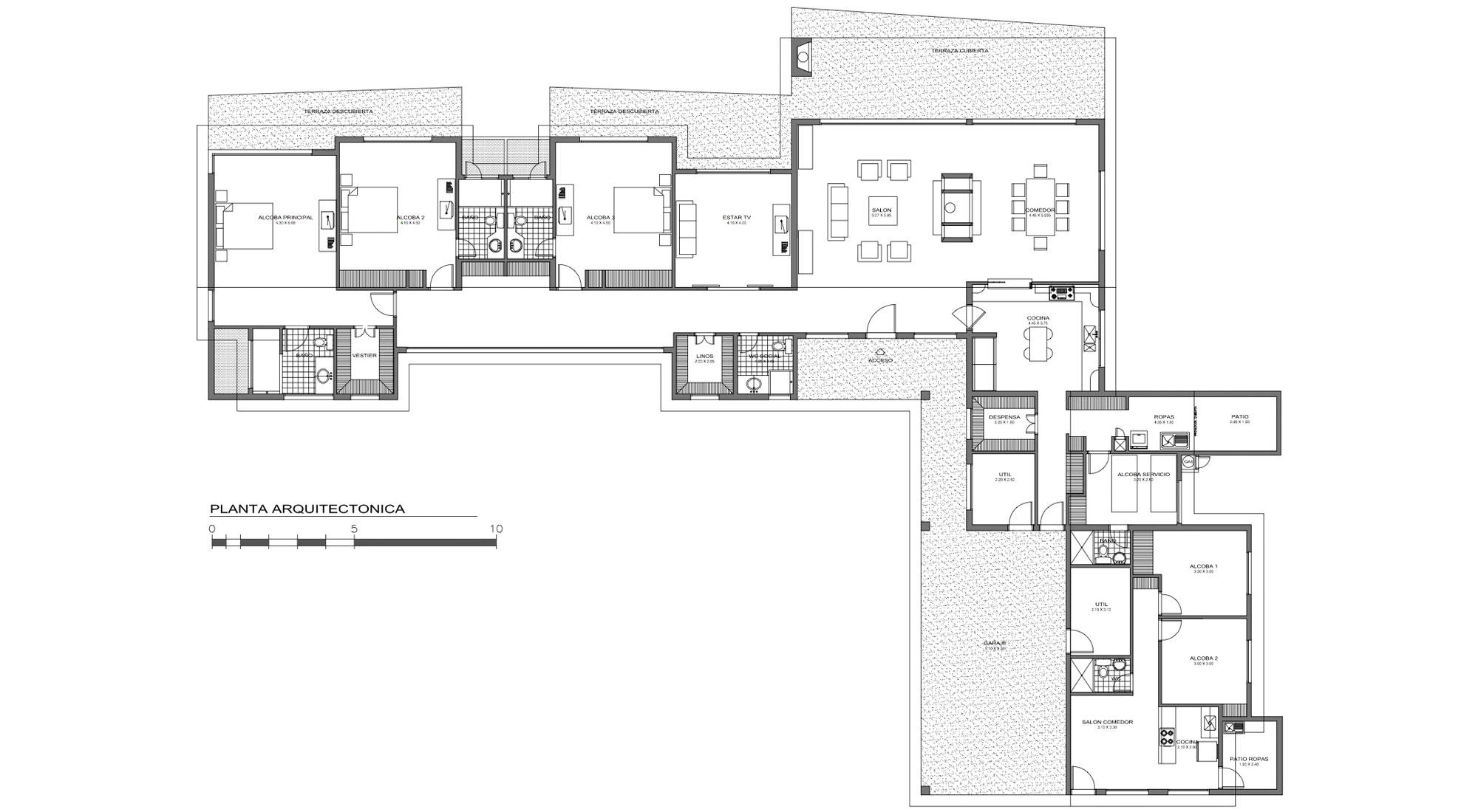 Casa l grupo ark for Casa con planos completos